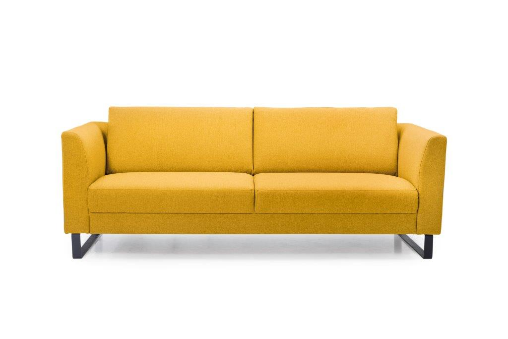 GENEVE 3 seater (VERONA 23 yellow) front softnord soft nord scandinavian style furniture modern interior design sofa bed chair pouf upholstery
