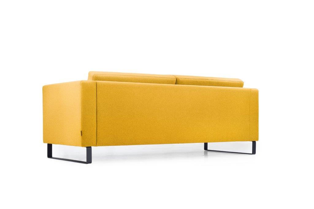 GENEVE 3 seater (VERONA 23 yellow) low back softnord soft nord scandinavian style furniture modern interior design sofa bed chair pouf upholstery
