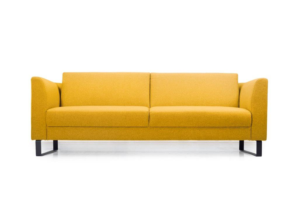 GENEVE 3 seater (VERONA 23 yellow) low front softnord soft nord scandinavian style furniture modern interior design sofa bed chair pouf upholstery
