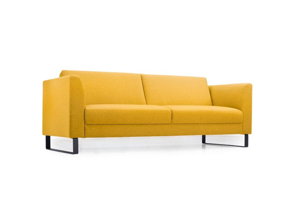 GENEVE 3 seater (VERONA 23 yellow) low side softnord soft nord scandinavian style furniture modern interior design sofa bed chair pouf upholstery