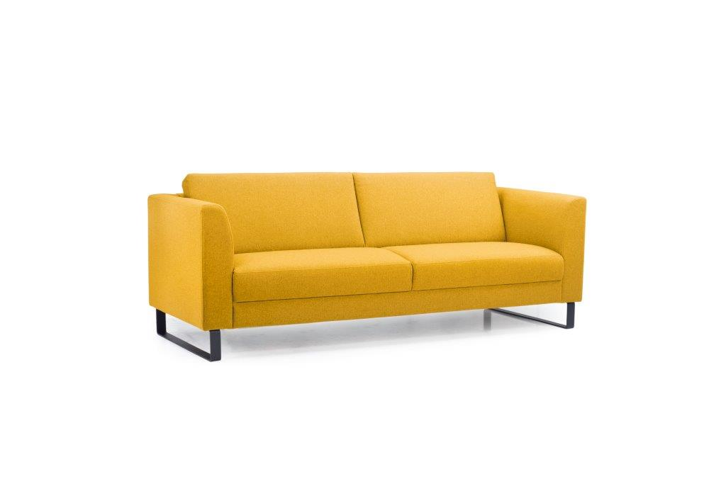 GENEVE 3 seater (VERONA 23 yellow) side softnord soft nord scandinavian style furniture modern interior design sofa bed chair pouf upholstery