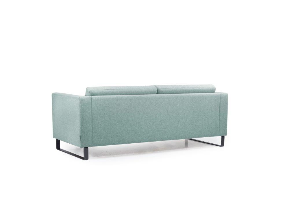 GENEVE 3 seater (VERONA 29 sapphire) back softnord soft nord scandinavian style furniture modern interior design sofa bed chair pouf upholstery