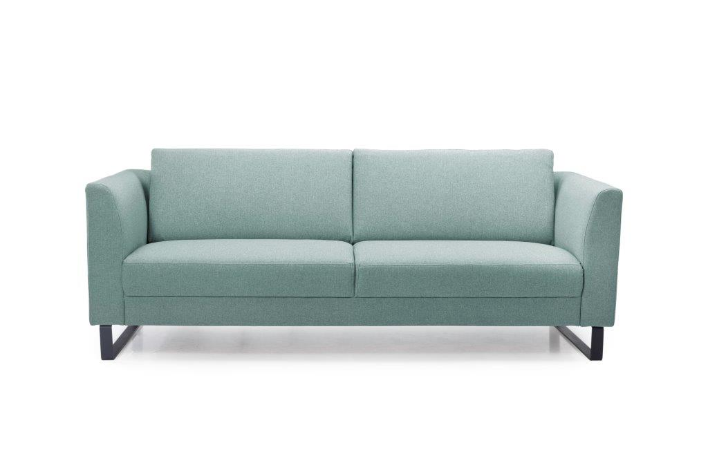 GENEVE 3 seater (VERONA 29 sapphire) front softnord soft nord scandinavian style furniture modern interior design sofa bed chair pouf upholstery