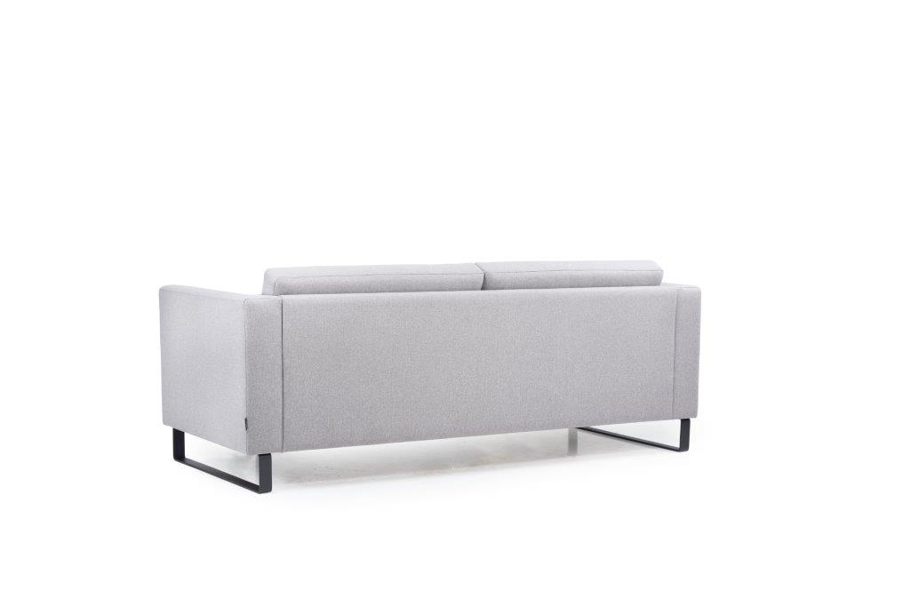 GENEVE 3 seater (VERONA 3 grey) back softnord soft nord scandinavian style furniture modern interior design sofa bed chair pouf upholstery