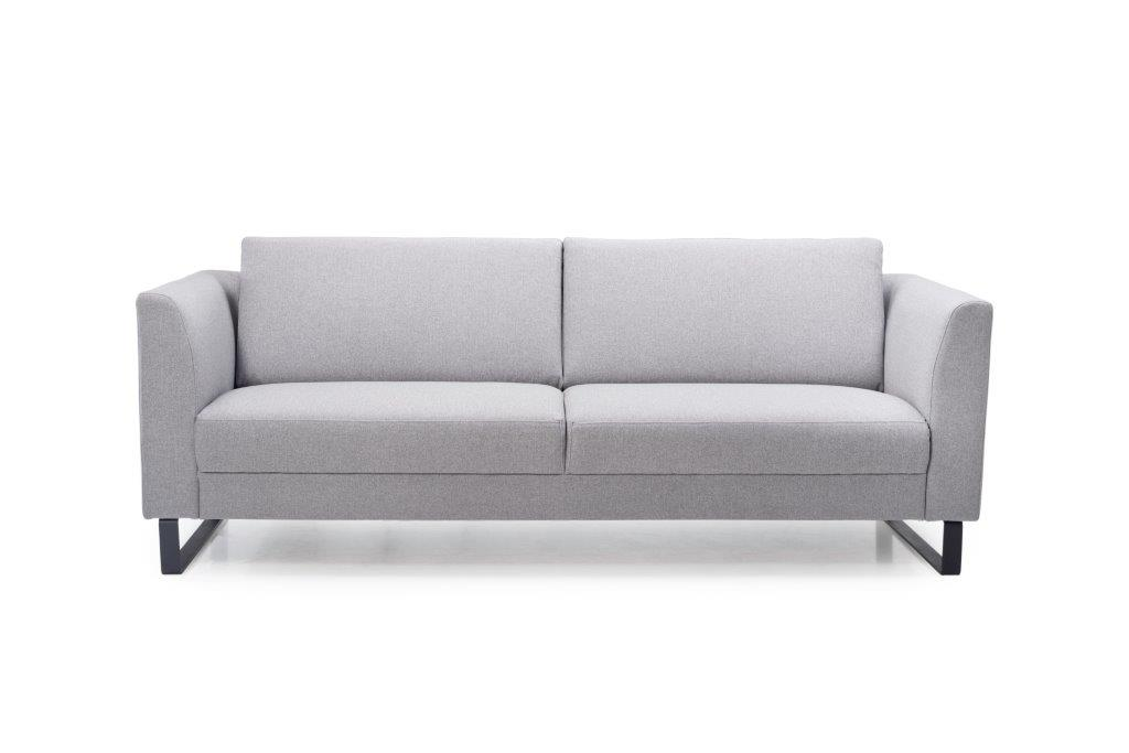 GENEVE 3 seater (VERONA 3 grey) front softnord soft nord scandinavian style furniture modern interior design sofa bed chair pouf upholstery