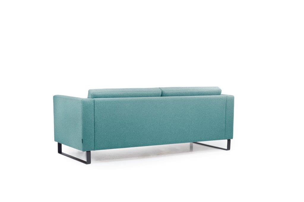 GENEVE 3 seater (VERONA 30 petrol) back softnord soft nord scandinavian style furniture modern interior design sofa bed chair pouf upholstery