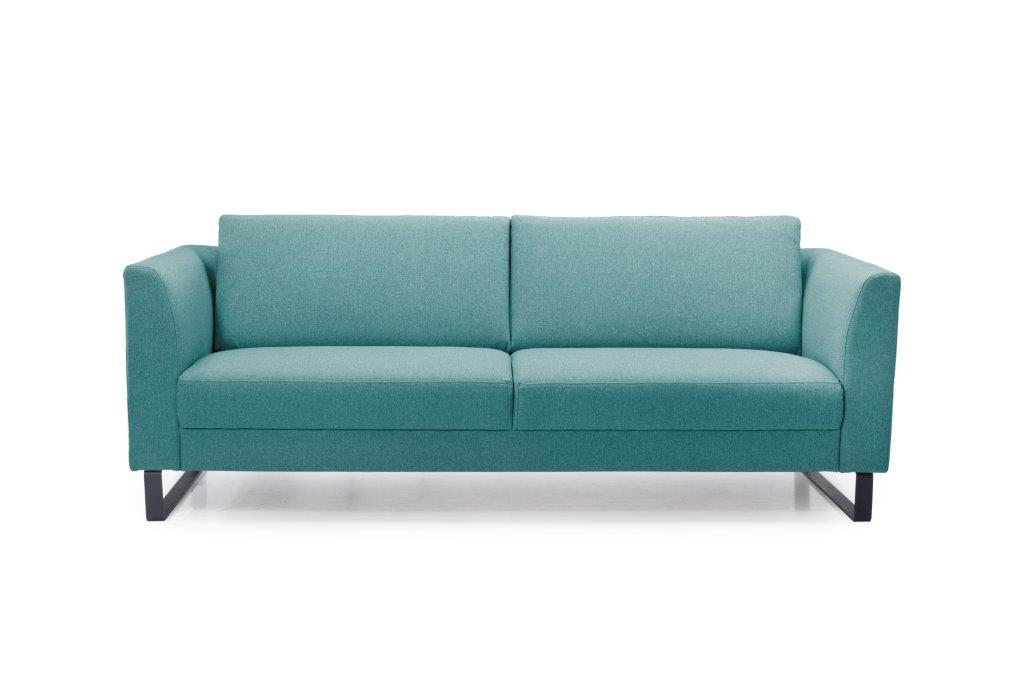 GENEVE 3 seater (VERONA 30 petrol) front softnord soft nord scandinavian style furniture modern interior design sofa bed chair pouf upholstery