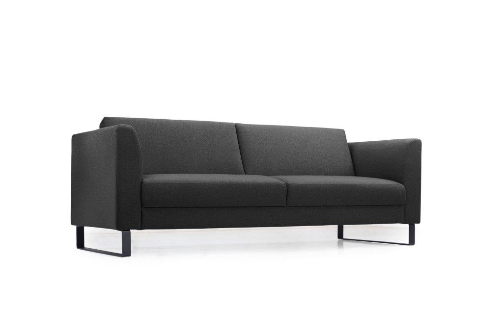 GENEVE 3 seater (VERONA 7 antrazite) low side softnord soft nord scandinavian style furniture modern interior design sofa bed chair pouf upholstery