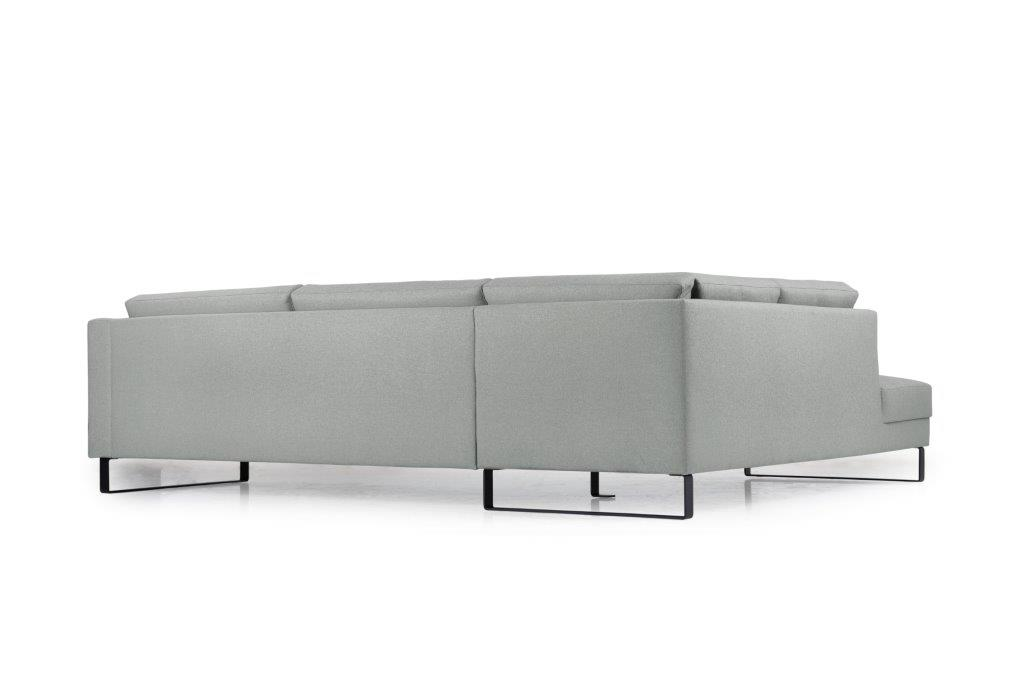 GENEVE open corner with 3 seater (VERONA 3 grey) back softnord soft nord scandinavian style furniture modern interior design sofa bed chair pouf upholstery