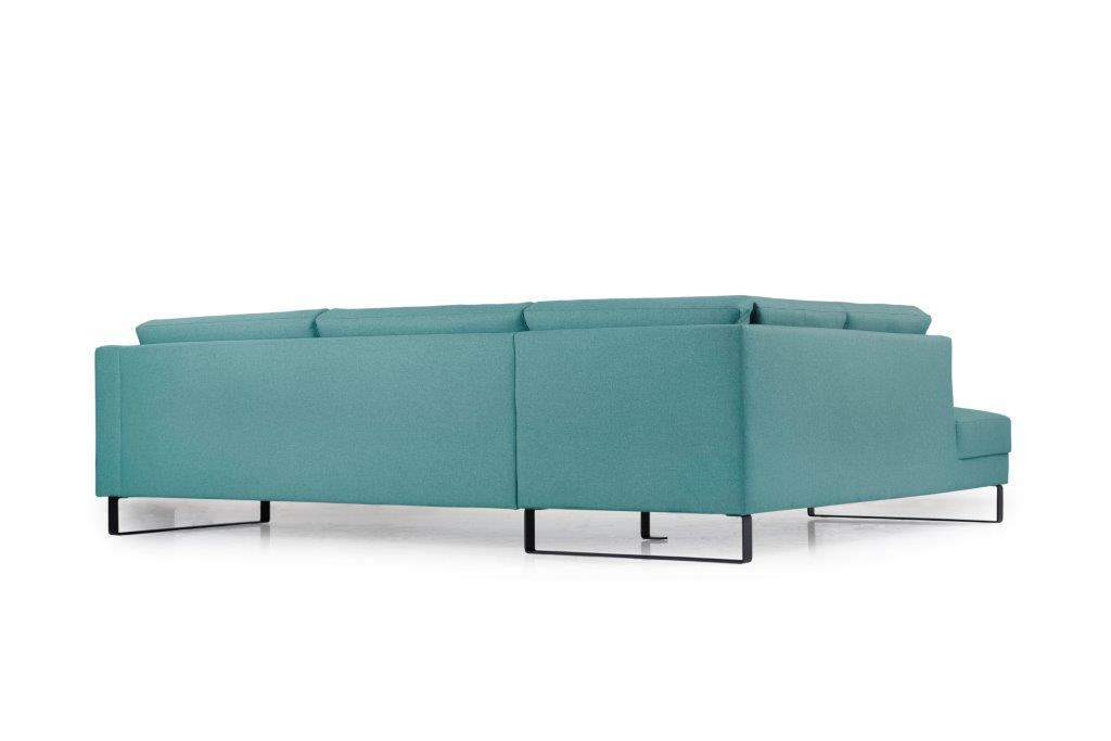 GENEVE open corner with 3 seater (VERONA 30 petrol) back softnord soft nord scandinavian style furniture modern interior design sofa bed chair pouf upholstery