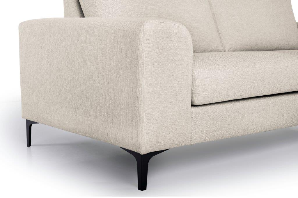 HENRY 2,5-seater (LINDT 8 beige) arm+leg softnord soft nord scandinavian style furniture modern interior design sofa bed chair pouf upholstery