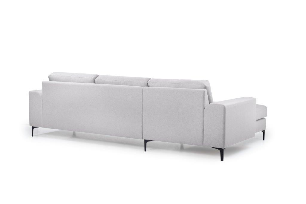 HENRY chaiselongue (LINDT 3_1 light grey) back softnord soft nord scandinavian style furniture modern interior design sofa bed chair pouf upholstery