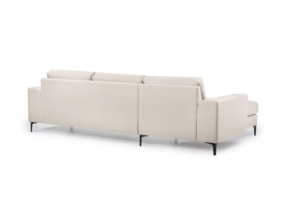 HENRY chaiselongue (LINDT 8 beige) back softnord soft nord scandinavian style furniture modern interior design sofa bed chair pouf upholstery