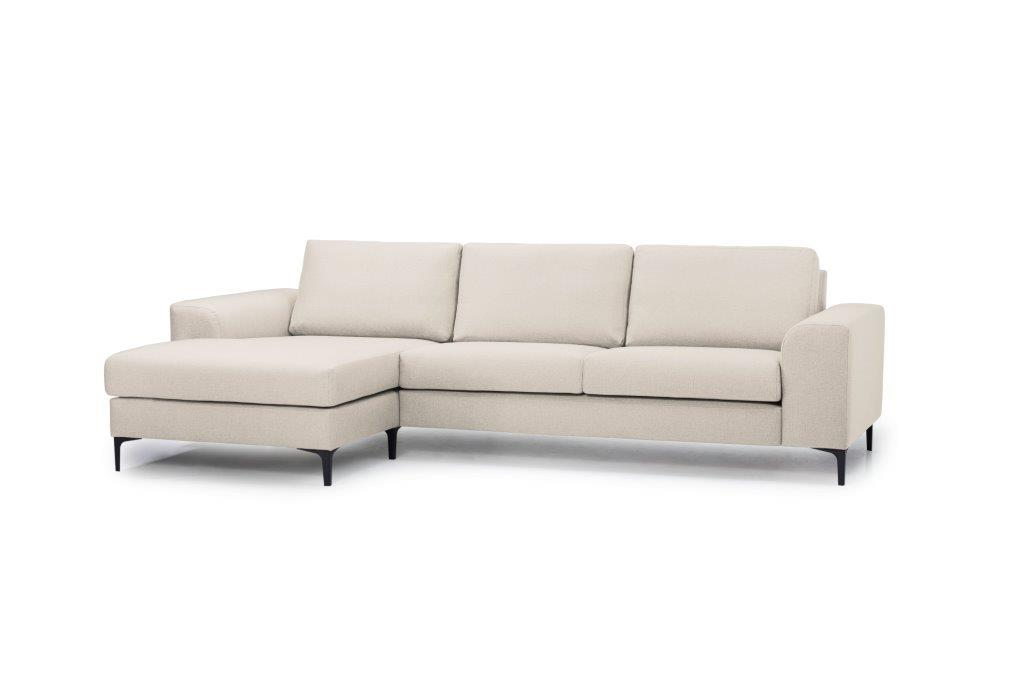 HENRY chaiselongue (LINDT 8 beige) side softnord soft nord scandinavian style furniture modern interior design sofa bed chair pouf upholstery