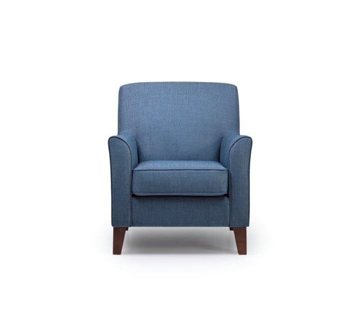 KEATS chair (OCEAN 16 blue) front softnord soft nord scandinavian style furniture modern interior design sofa bed chair pouf upholstery