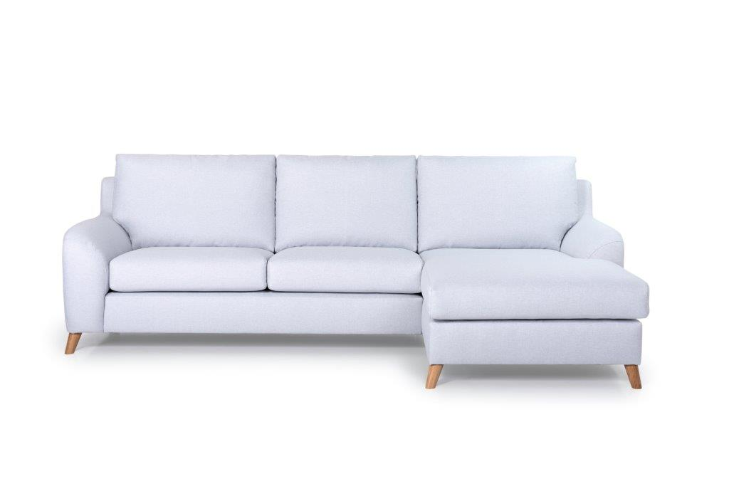NORDIC LIVING chaiselongue over arm (SALSA 22,1 light silver) frontsoftnord soft nord scandinavian style furniture modern interior design sofa bed chair pouf upholstery