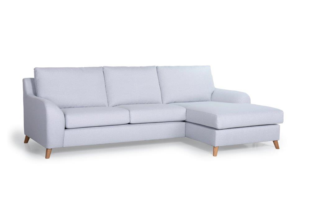 NORDIC LIVING chaiselongue over arm (SALSA 22,1 light silver) side softnord soft nord scandinavian style furniture modern interior design sofa bed chair pouf upholstery