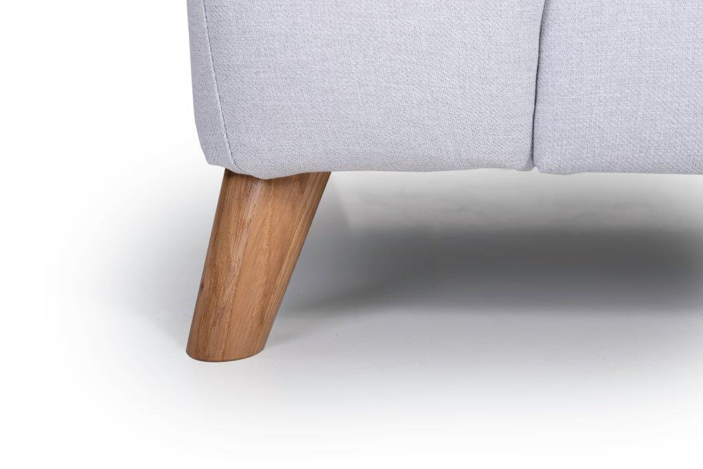 NORDIC LIVING oak leg (SALSA 22,1 light silver) softnord soft nord scandinavian style furniture modern interior design sofa bed chair pouf upholstery
