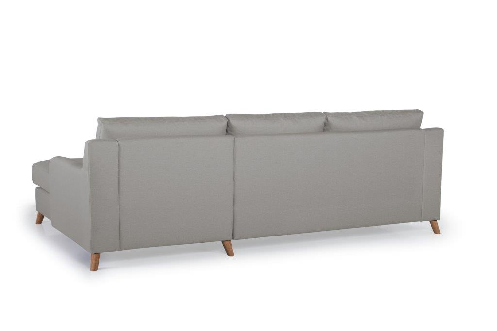 NORDIC LIVING chaiselongue- (SALSA 3 grey) softnord soft nord scandinavian style furniture modern interior design sofa bed chair pouf upholstery