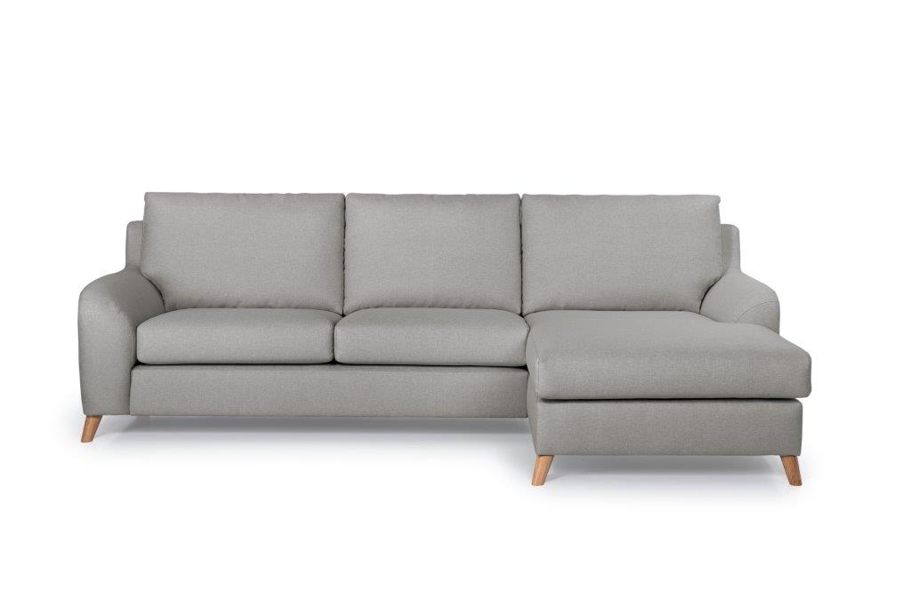 NORDIC LIVING chaiselongue (SALSA 3 grey) softnord soft nord scandinavian style furniture modern interior design sofa bed chair pouf upholstery