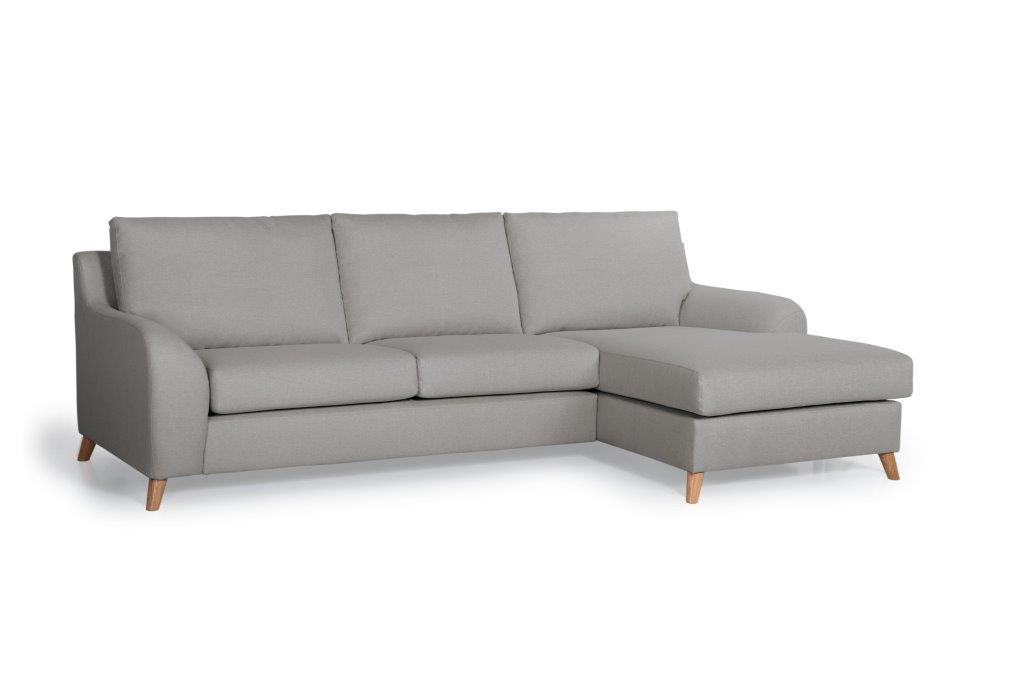NORDIC LIVING chaiselongue (SALSA 3 grey)- softnord soft nord scandinavian style furniture modern interior design sofa bed chair pouf upholstery