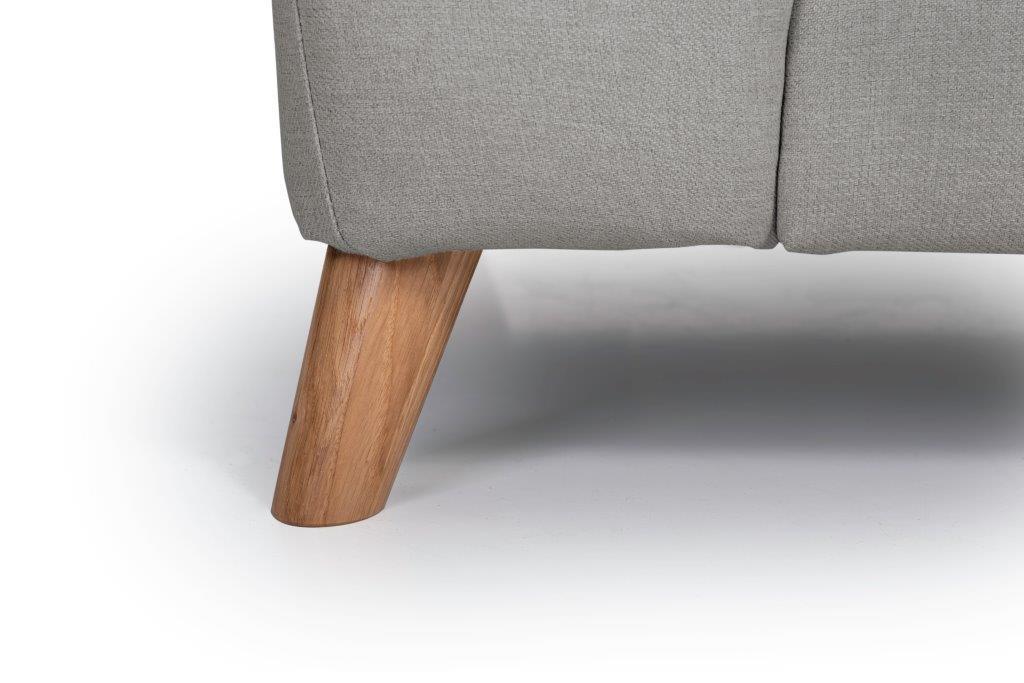 NORDIC LIVING chaiselongue leg(SALSA 3 grey) softnord soft nord scandinavian style furniture modern interior design sofa bed chair pouf upholstery