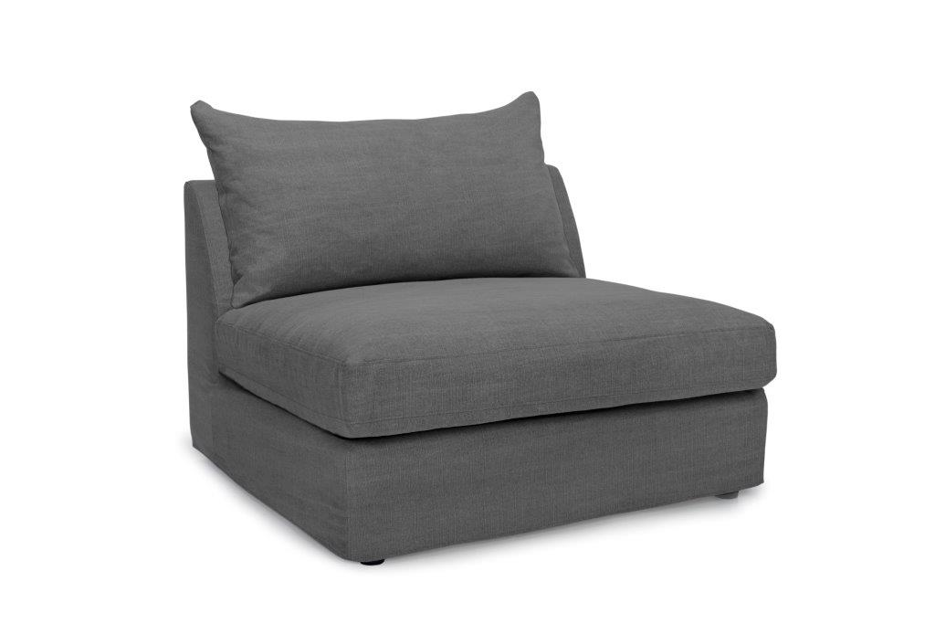 PORTLAND 1 seater (KISS 66 graphite) side softnord soft nord scandinavian style furniture modern interior design sofa bed chair pouf upholstery