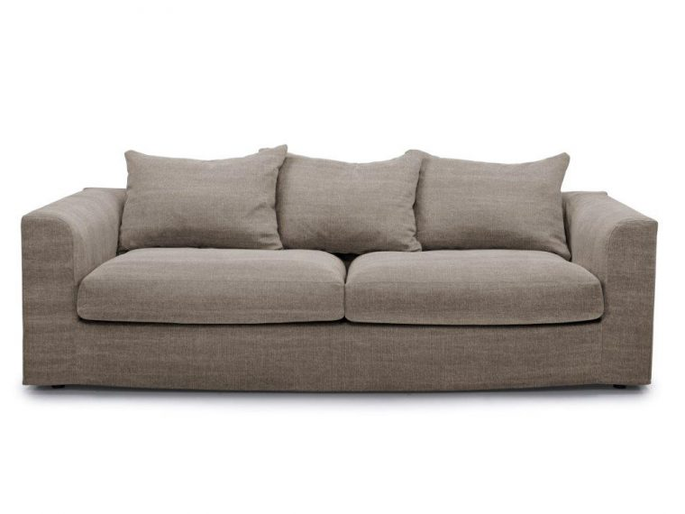PORTLAND 3 seater (KISS 14 latte) front softnord soft nord scandinavian style furniture modern interior design sofa bed chair pouf upholstery