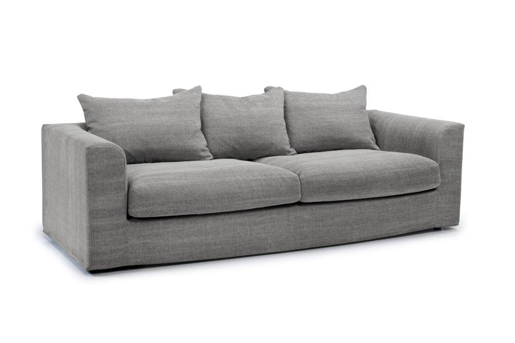 PORTLAND 3 seater (KISS 3.1 light grey) side softnord soft nord scandinavian style furniture modern interior design sofa bed chair pouf upholstery