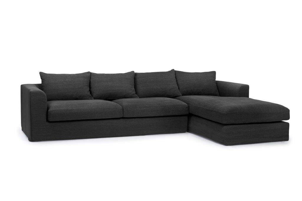 PORTLAND chaiselongue (KISS black) side softnord soft nord scandinavian style furniture modern interior design sofa bed chair pouf upholstery