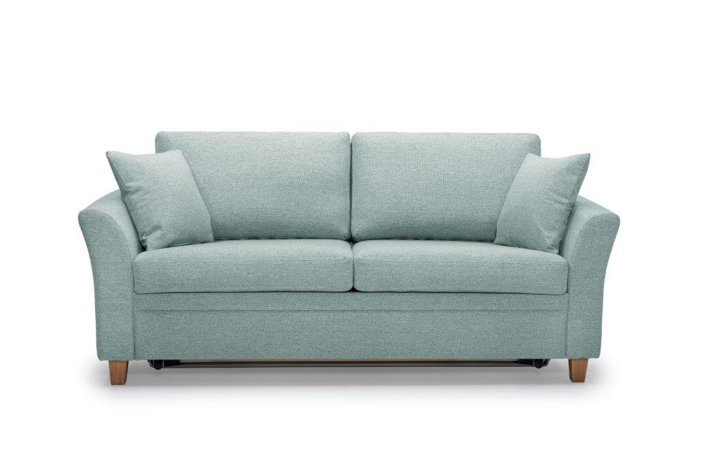 SONIA 2-seater (LINDT 29 sapphire) front softnord soft nord scandinavian style furniture modern interior design sofa bed chair pouf upholstery