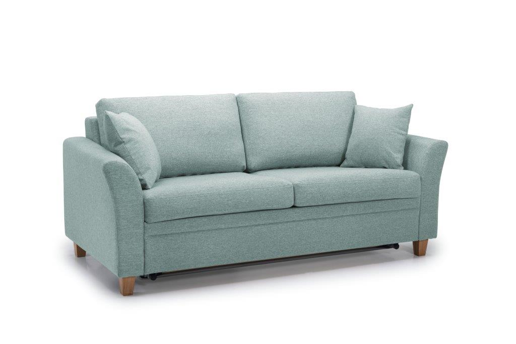 SONIA 2-seater (LINDT 29 sapphire) side softnord soft nord scandinavian style furniture modern interior design sofa bed chair pouf upholstery