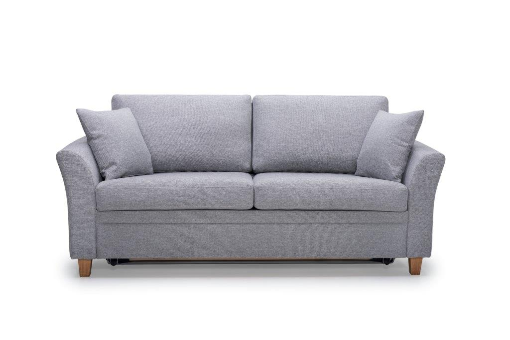 SONIA 2-seater (LINDT 3,2 dark grey) front softnord soft nord scandinavian style furniture modern interior design sofa bed chair pouf upholstery