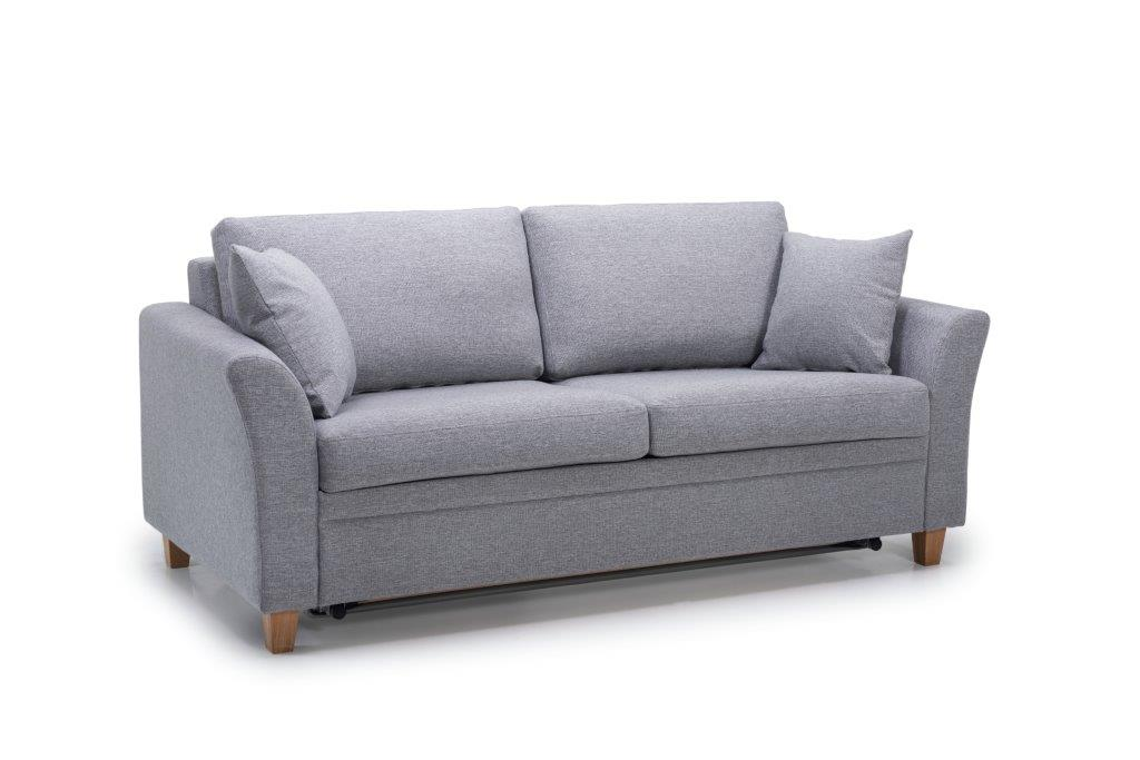 SONIA 2-seater (LINDT 3,2 dark grey) side softnord soft nord scandinavian style furniture modern interior design sofa bed chair pouf upholstery