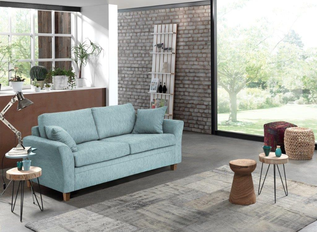 SONIA Maestro 29 sapphire FR (unfolded) softnord soft nord scandinavian style furniture modern interior design sofa bed chair pouf upholstery