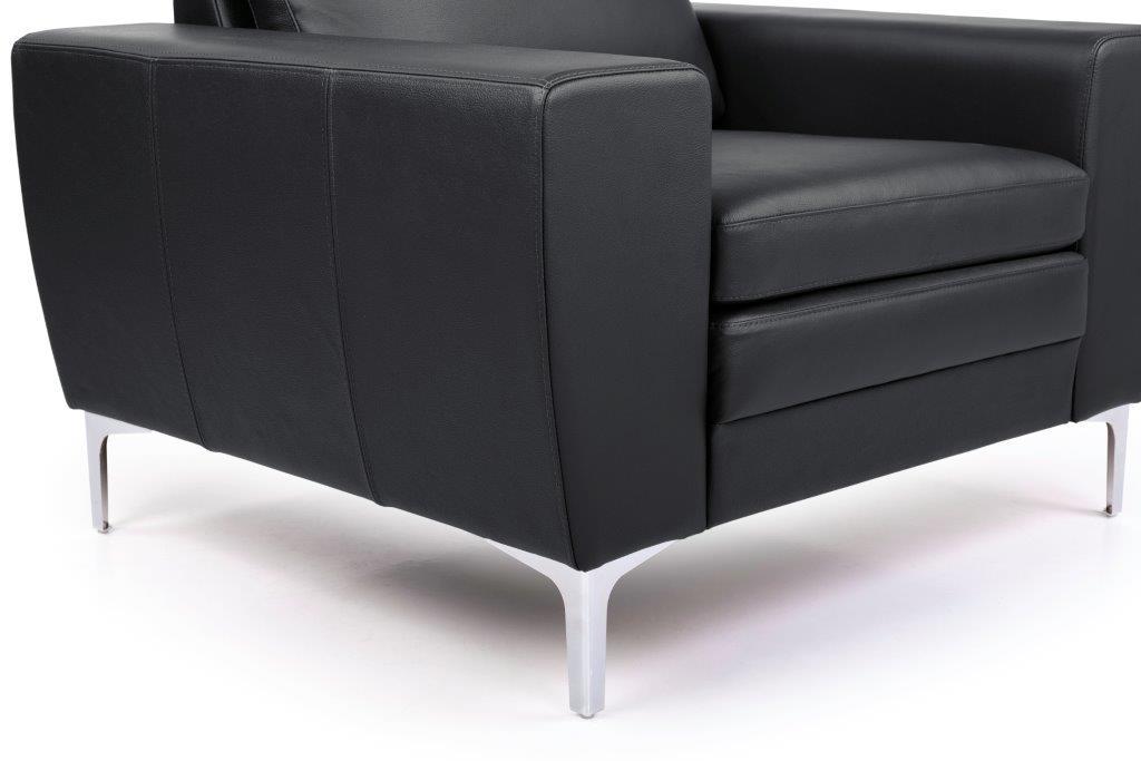 TWIGO 1 seater (SIERA black) arm+leg softnord soft nord scandinavian style furniture modern interior design sofa bed chair pouf upholstery
