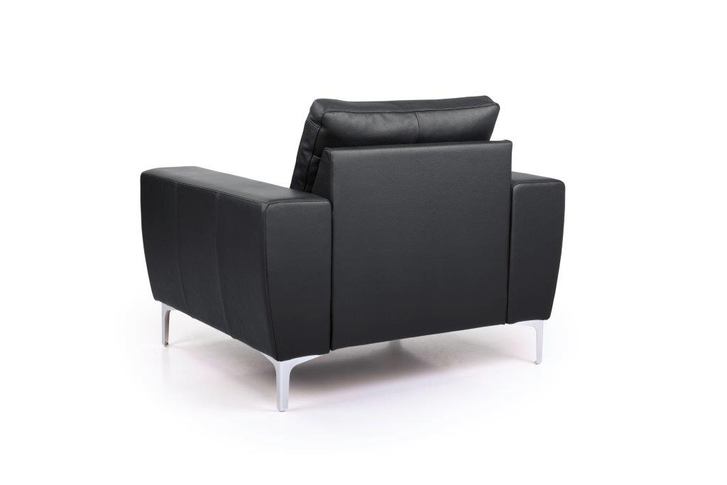 TWIGO 1 seater (SIERA black) back softnord soft nord scandinavian style furniture modern interior design sofa bed chair pouf upholstery