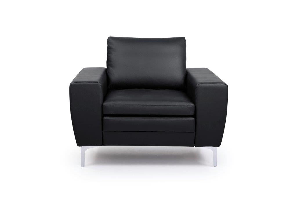 TWIGO 1 seater (SIERA black) front softnord soft nord scandinavian style furniture modern interior design sofa bed chair pouf upholstery