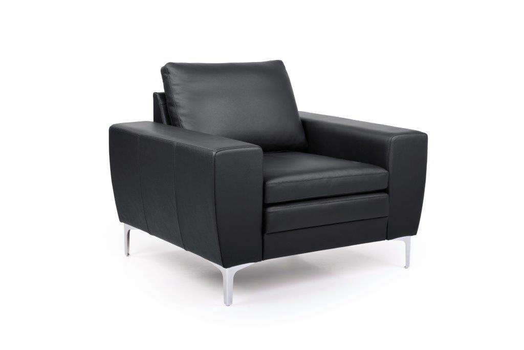 TWIGO 1 seater (SIERA black) side softnord soft nord scandinavian style furniture modern interior design sofa bed chair pouf upholstery