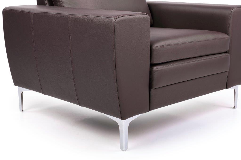 TWIGO 1 seater (SIERA dark brown) arm+leg softnord soft nord scandinavian style furniture modern interior design sofa bed chair pouf upholstery
