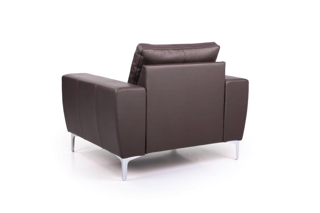 TWIGO 1 seater (SIERA dark brown) back softnord soft nord scandinavian style furniture modern interior design sofa bed chair pouf upholstery