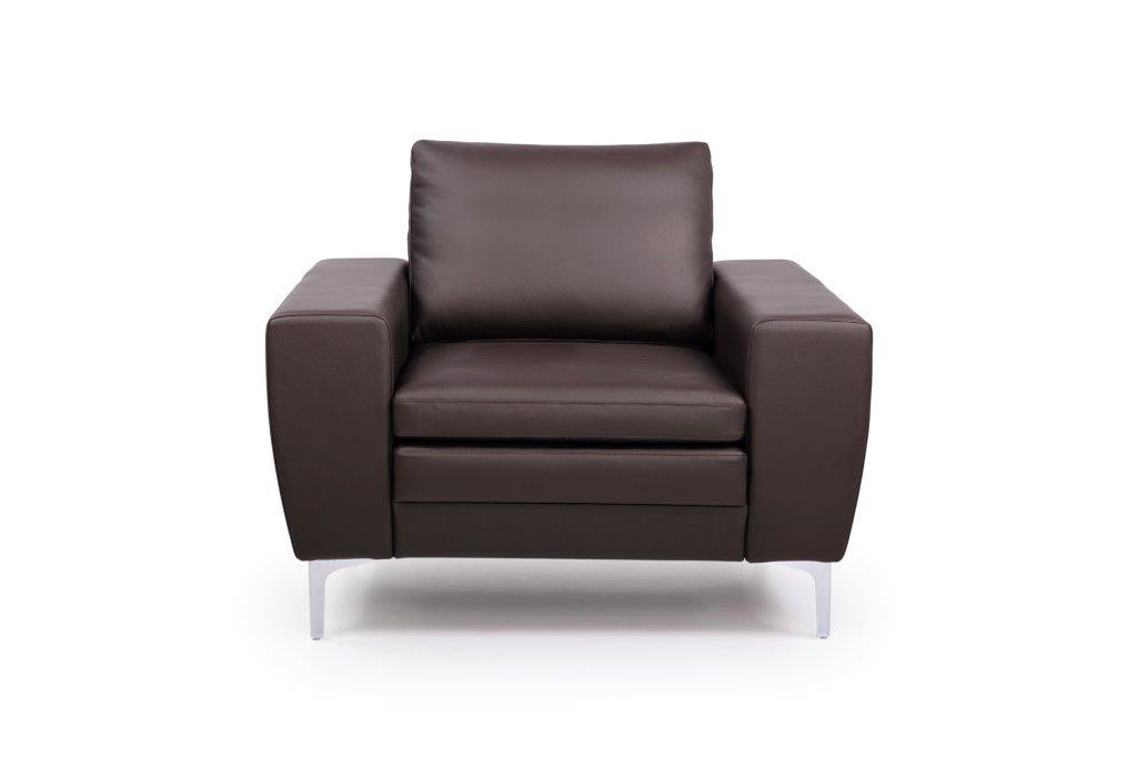 TWIGO 1 seater (SIERA dark brown) front softnord soft nord scandinavian style furniture modern interior design sofa bed chair pouf upholstery
