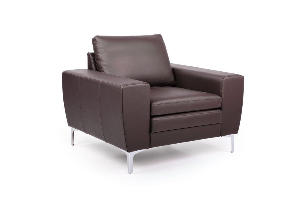 TWIGO 1 seater (SIERA dark brown) side softnord soft nord scandinavian style furniture modern interior design sofa bed chair pouf upholstery