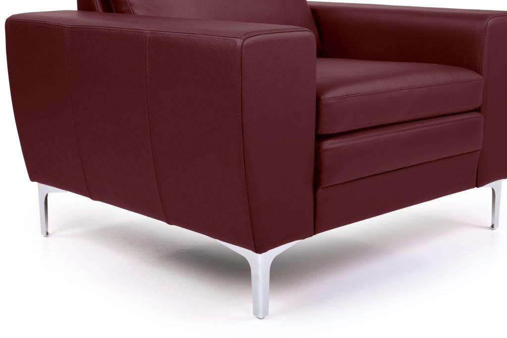 TWIGO 1 seater (SIERA red) arm+leg softnord soft nord scandinavian style furniture modern interior design sofa bed chair pouf upholstery