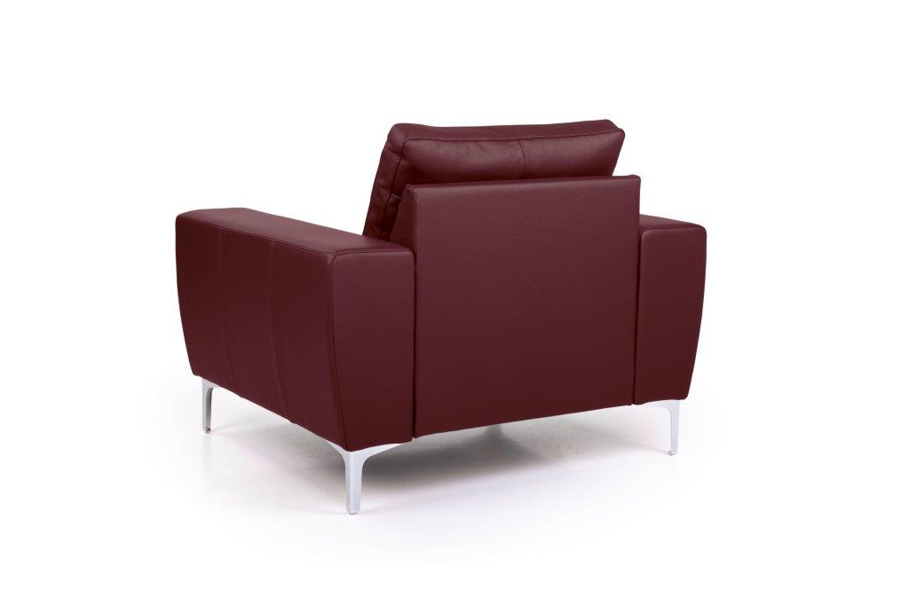 TWIGO 1 seater (SIERA red) back softnord soft nord scandinavian style furniture modern interior design sofa bed chair pouf upholstery