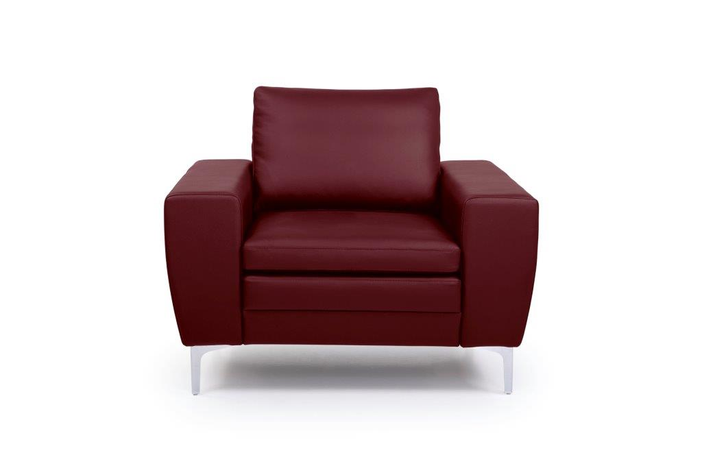 TWIGO 1 seater (SIERA red) front softnord soft nord scandinavian style furniture modern interior design sofa bed chair pouf upholstery