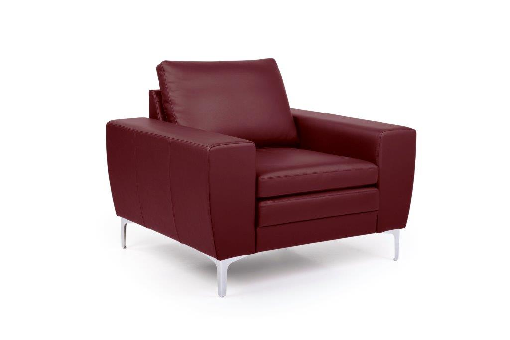 TWIGO 1 seater (SIERA red) side softnord soft nord scandinavian style furniture modern interior design sofa bed chair pouf upholstery