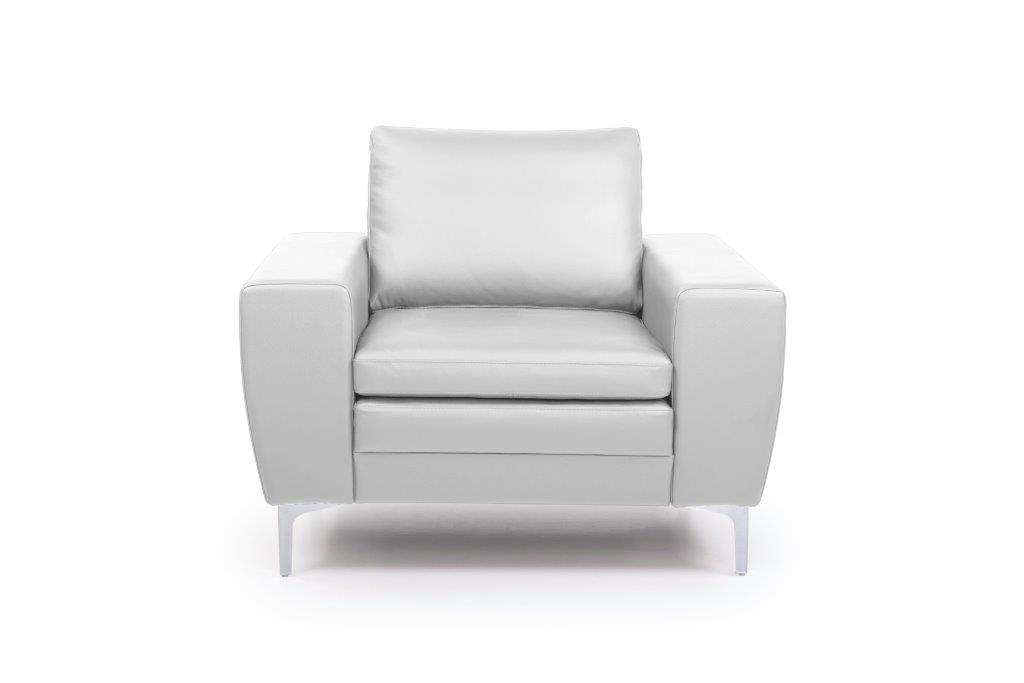 TWIGO 1 seater (SIERA white) front softnord soft nord scandinavian style furniture modern interior design sofa bed chair pouf upholstery