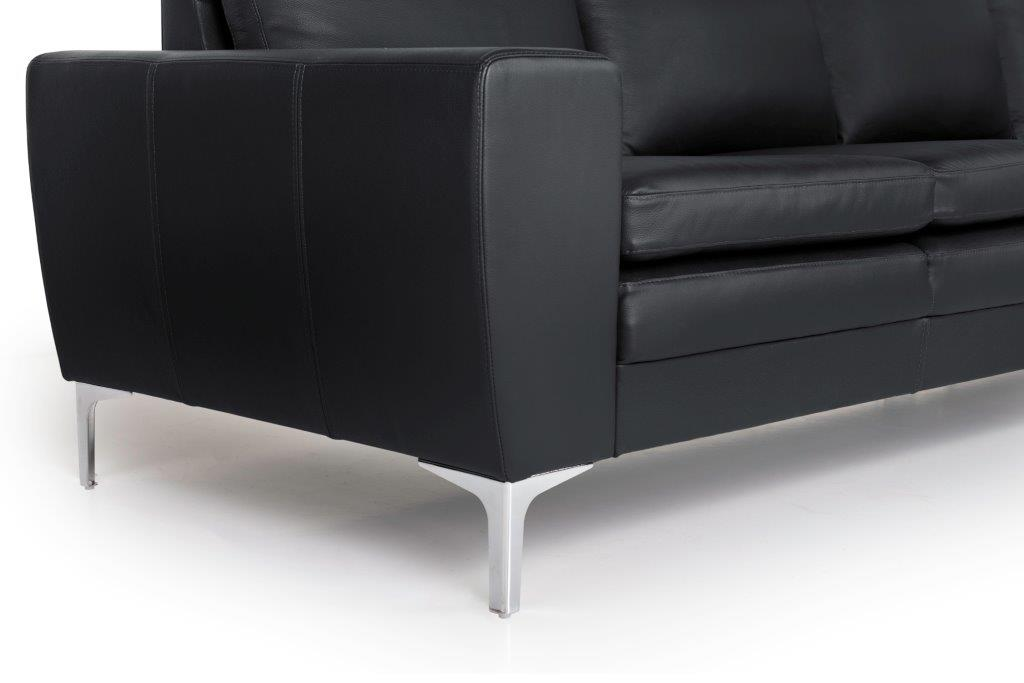 TWIGO 2 seater (SIERA black) arm+leg softnord soft nord scandinavian style furniture modern interior design sofa bed chair pouf upholstery