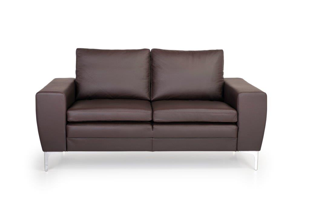 TWIGO 2 seater (SIERA dark brown) front softnord soft nord scandinavian style furniture modern interior design sofa bed chair pouf upholstery